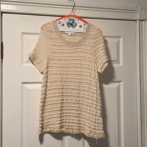 Eri + Ali short sleeve sweater by Anthropologie